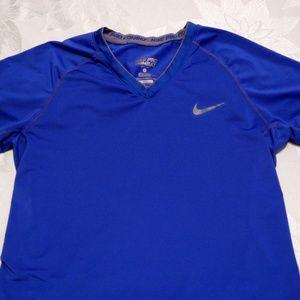 Nike Shirts - Nike Pro Combat Dri Fit Medium Royal Blue Shirt